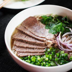 pho beef noodle soup